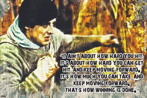 Rocky Movie Poster Memorable Quote 24x36 Home Decor Print