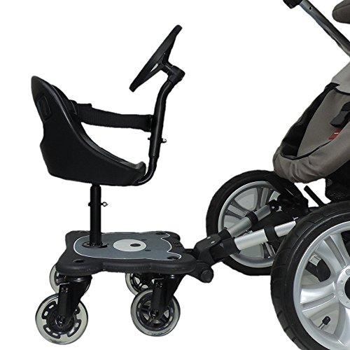 Eichhorn Cozy S Rider Asiento para cochecito, Niños, Edad recomendada 6 meses - 3 años, Color Negro ✅