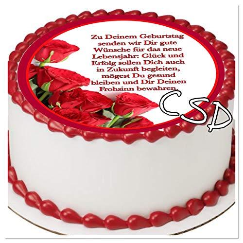 CSD Tortenaufleger Geburtstag 019, Essbares Tortenbild, Zuckerpapier, Geburtstag