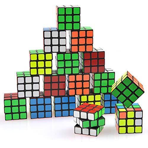 YOTINO Puzzle Zauberwürfel Mini Würfel Rubik Set Party Favors Cube Puzzle Geeignet für Anfänger (18 Stück)
