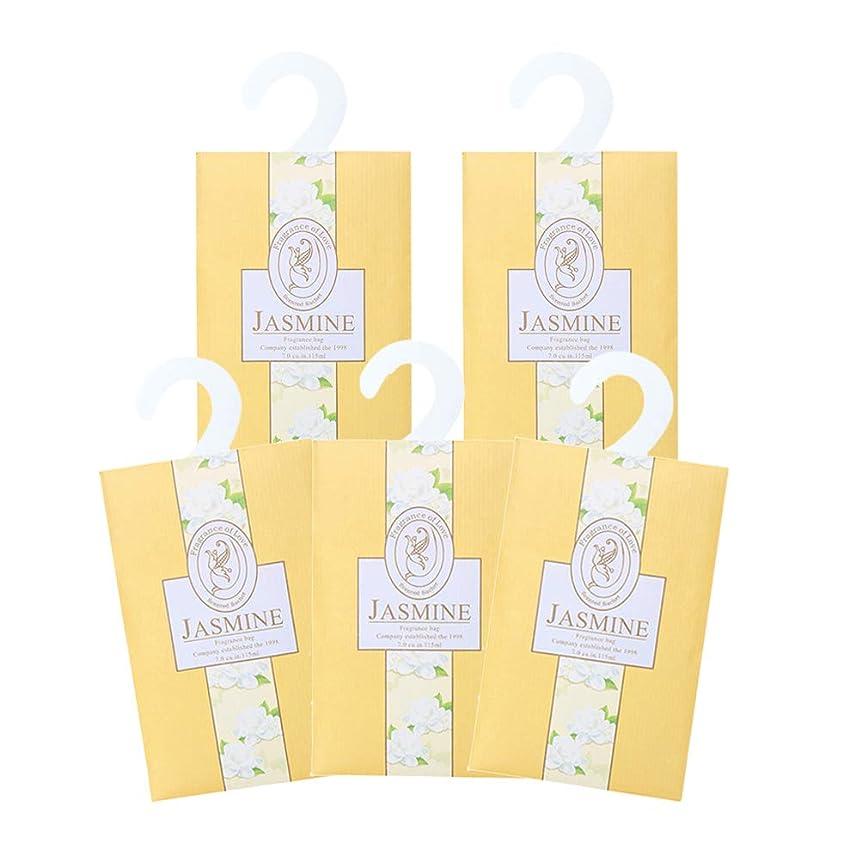 金銭的侵入する炎上TINKSKY 香り袋 サシェ 5枚セット 花の香り ルームフレグランス 車内用 玄関用 部屋用 着物用 芳香剤(ジャスミン)