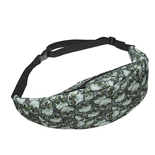 Bauchtasche Waist Bag 3D-Drucktasche Mit Bauchringen Mode-Taillentasche Leder-Reißverschlusstasche Für Herren Leder