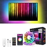 Alexa USB Tiras LED TV 3M, Luces de LED RGB inteligente Sync con Música, con Control App, 16 Millones Colores y 8 Modos...