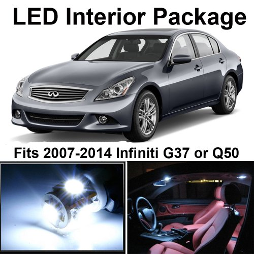 Classy Autos Infiniti G37 White Interior LED Package (9 Pieces)
