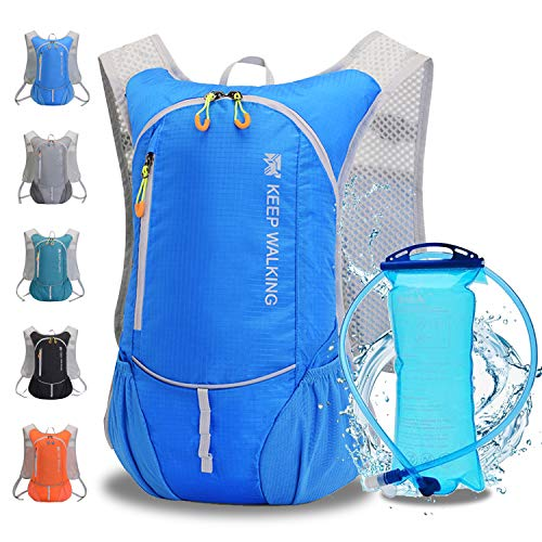 Hydration Backpack,Hydration Pack Backpack with 2L Hydration Bladder Outdoor Running Cycling Biking Hiking Climbing Skiing Hunting Pouch,Water Backpack with Hydration for Men & Women
