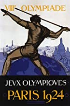 VIII OLYMPIADE JEUX OLYMPIQUES PARIS 1924 SMALL VINTAGE POSTER CANVAS REPRO