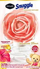 Each flower is artfully crafted by hand Infused with essential oil for the peacefully fresh fragrance Up to 45 days of fresh scent release Perfect for decorative fragrance in any room of your home This package includes one Renuzit Snuggle handmade fl...