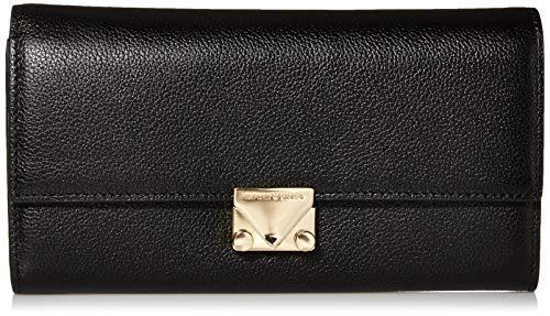 Emporio Armani Damen Designer Smooth Leather Bi-Fold Wallet with Button Closure Geldbörse, schwarz, Einheitsgröße