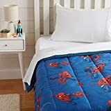 spiderman quilt - AmazonBasics by Marvel Spiderman Spidey Crawl Comforter, Twin
