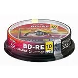 TDK BD-RE 25GB 2倍速 10枚スピンドルケース入 BEV25PWA10PA
