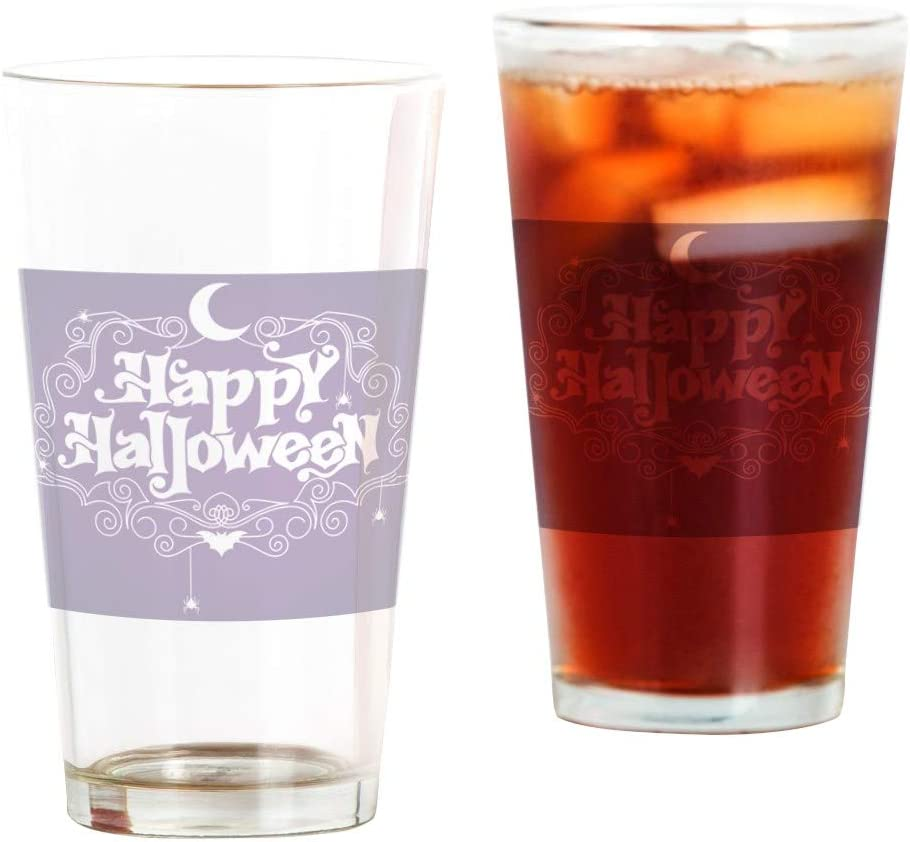 Pint Drinking Glass Selling Happy Sales for sale Bats and Spiders Halloween