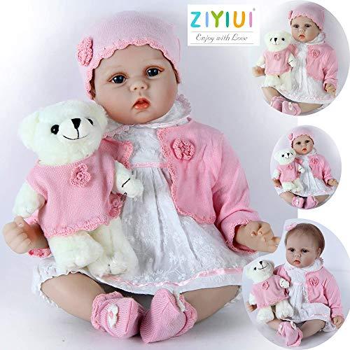 ZIYIUI Muñecas Bebé 22 Pulgadas 55 cm Reborn Baby Dolls Suave Silicona Recién Nacido Niña Niño Juguete Renacer Muñeca certificación EN71