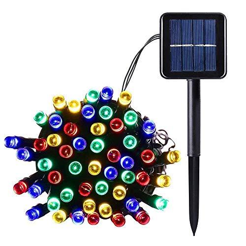 Salcar LED Solar Lichterkette Garten Deko, 100 LEDs Wasserdicht LED Außen lichterkette 12m