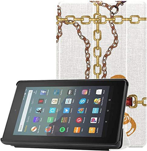 Estuche para la Tableta Fire 7 Estuche de Mezcla de Cuerda y cinturón Entrelazado para Tableta Fire 7 Versión 2019 para Tableta Fire 7(novena generación,versión 2019) Ligero con suspensión/activación