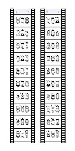 Trendfinding 2 Fototaschen Fotohalter Filmstreifen Querformat 10 x 15 cm für je 10 Fotos