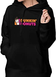 Rolvsx Womens Winter Hoodies Doughnut Dunkin' D Cotton Hooded Coat Jacket Pullover Sweatshirt Outwear Long Sleeve