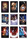 POSTER STOP ONLINE Star Wars Episode I, II, III, IV, V, VI, VII, VIII & IX - Movie Poster Set (9 Individual Full Size Movie Posters - Regulars Version 4) (Size 24 x 36' Each)