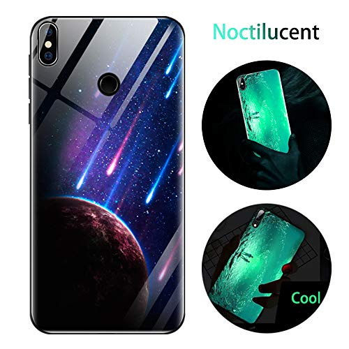 Cover Xiaomi Mi A2 Lite, Custodia Redmi 6 PRO, Cover Silicone Nottilucenti Luminoso Cristallo Case Vetro Temperato 3D Fluorescente Ultra Sottile Protettiva Antiurto Backcover Meteora