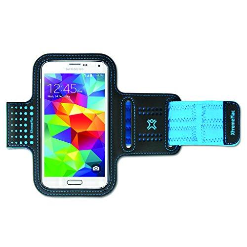 Xtrememac Sportwrap Fascia Da Braccio Per Apple Iphone 6/Samsung Galaxy S5 Accessorio Per Cellulare Smartphone, Azzurro