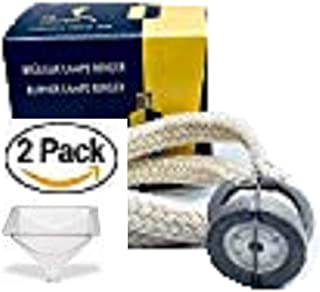 STANDARD BASIC LAMPE BERGER WICK BURNER (2 Pack) with FREE Funnel- Fits ANY and ALL Lampe Berger