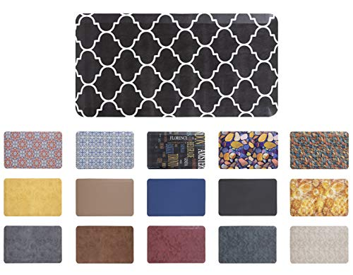 """Mabel Home Anti Fatigue Floor Mat- 3 Size(20x32 & 20x39 & 24x70),16 Colors - Standing Desk Mat-Kitchen Floor Mat-Stain ResistantHome Non-Slip Bottom, Extra Soft (Diamond, 20"""" x 32"""")"""