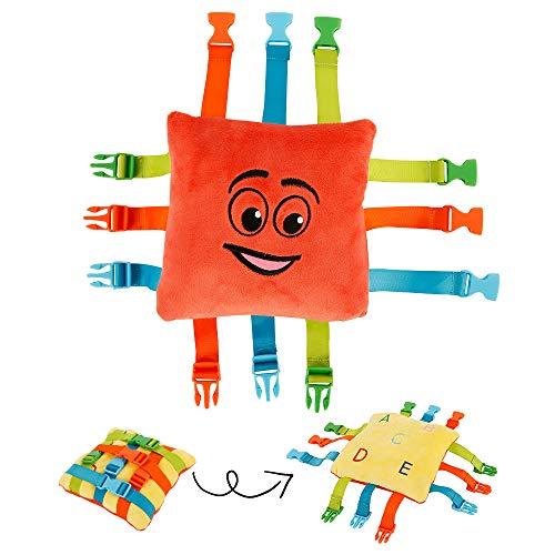 MeteorFlying Buckle Toy Toddler Early Learning Chrildren Basic Life Skills Plush Toys for Kids Gift