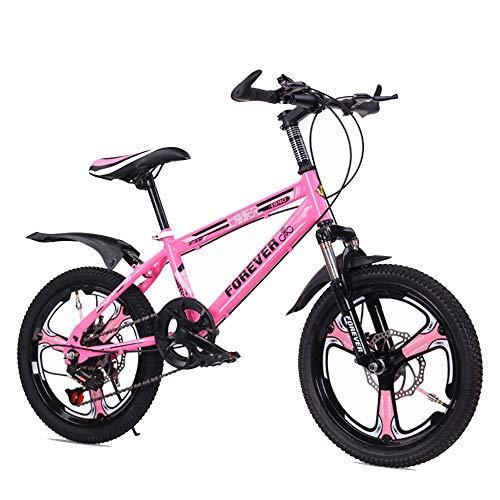 BAOMEI Bicicletas Bicicletas for niños for niños Bicycle18 / 20 Pulgadas de niños y niñas Ciclismo, Adecuado for niños de 7-14 Años de Edad (Color : C, Size : 18in)