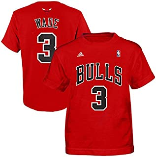 huge selection of 9f7c9 d4fbb adidas Dwyane Wade Chicago Bulls Red Youth Name and Number T-Shirt