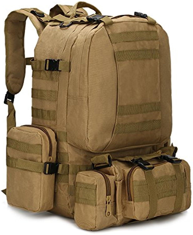 HXZB Outdoor-Rucksack Unisex Rucksack Army Camouflage Wandern Bergsteiger Tasche Gepck Kombination Big Bag,B