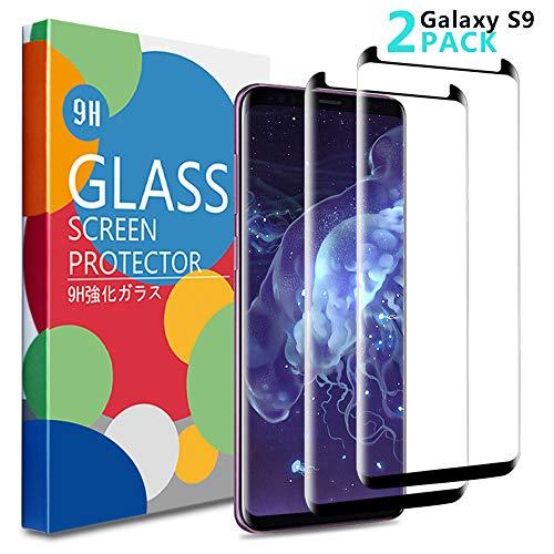 Edota - Protector de Pantalla para Samsung Galaxy S9 (2 Unidades) [Compatible con Fundas] [antiarañazos] [antiburbujas] 3D curado Premiun Protector de Pantalla de Cristal Templado