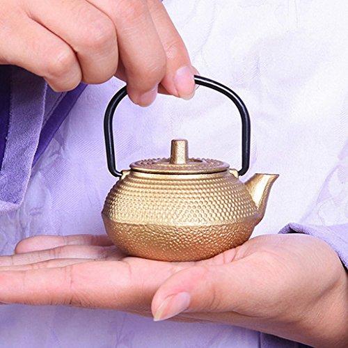 Mini Tetera de Té de Hierro Fundido Estilo Japonés Tetsubin Tetera Pequeña de 50ml