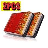 2pcs Luces Traseras Piloto Remolque LED Freno de Señal Impe
