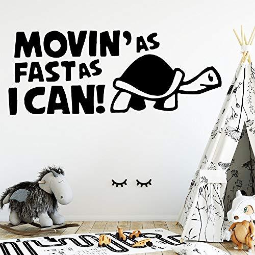 BailongXiao Schildkröte Vinyl Küche Wandaufkleber Tapete für Kinderzimmer Dekoration wasserdicht Wandkunst Aufkleber 30x75cm