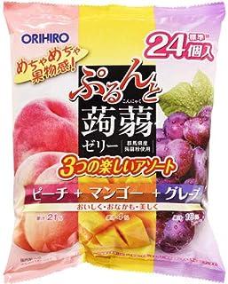 Orihiro Purun To Konnyaku Jelly Peach Mango & Grape, 480 g