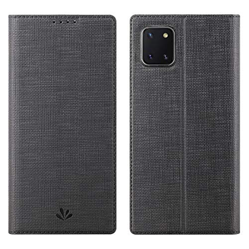 Galaxy Note 10 lite Hülle,Premium Leder Geldbörse Tasche mit [Kickstand][Kartenhalter][ID Holder][TPU Bumper] Stoßfest Schutzbrieftasche Stoßfest Flip Tasche für Samsung Galaxy Note 10 lite,schwarz