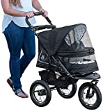 Pet Gear No-Zip NV Pet Stroller for Cats/Dogs, Zipperless Entry, Easy One-Hand Fold, Air Tires, Plush Pad + Weather Cover Included, Optional Divider, One Size Fits All
