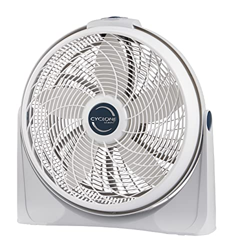 Lasko 3520 20 Cyclone Pivoting Floor Fan,White 20