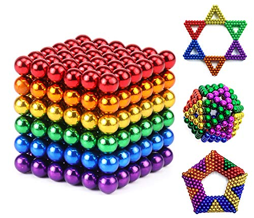 DOOGAXOO 5MM Set of 216 Magnets Balls Building Blocks Toys for Intelligence Learning Development and Creative Educational Toy, Office Desk Toy & Stress Relief (Multicolour C)