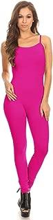 Stretch Cotton Bodysuit Women Stretch Cotton Spaghetti Full Length Romper Jumpsuits Unitard Bodysuits (&Plus)