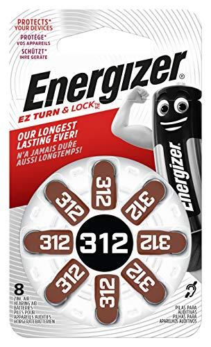 Energizer 634924 Hörgerätebatterie Typ 312 Zink-Luft (1,4Volt, 8er-Packung)