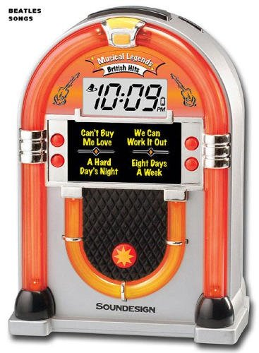 Soundesign 3163B British Hits Jukebox Alarm Clock with Songs and Melodies (Discontinued by Manufacturer)