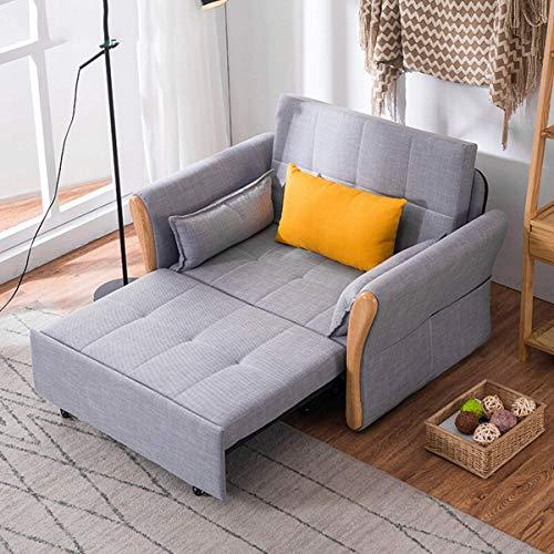 Home Equipment Lehnstuhl Cabrio Schlafsofa Schlafsofa Modern Lazy Klappsessel Sofa Einfache Couch 3 Position Robust Sleeper Leisure Recliner Stilvolles Lounge Couch Bett für Home Office Balkonmöbel