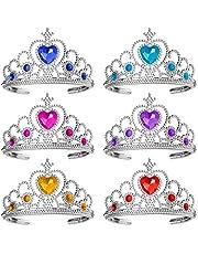 Ouinne 6 Piezas Corona de Princesa, Corona de Tiara Vestir Accesorios de Fiesta