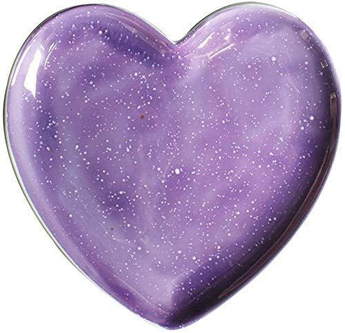 DHTOMC Placa de tazón Plato púrpura Estrella Hueco Placa nórdica Neta Rojo Placa Creativa hogar decoración de cerámica Regalo (Color: púrpura, Tamaño: 18 * 18 * 2 cm) Cocina Xping