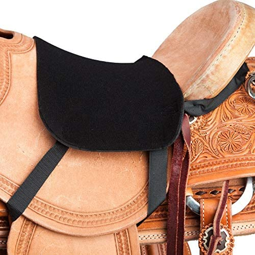 CHALLENGER Horse Western Sure Grip Saddle Seat Cover Adjustable Leg Bands 4206
