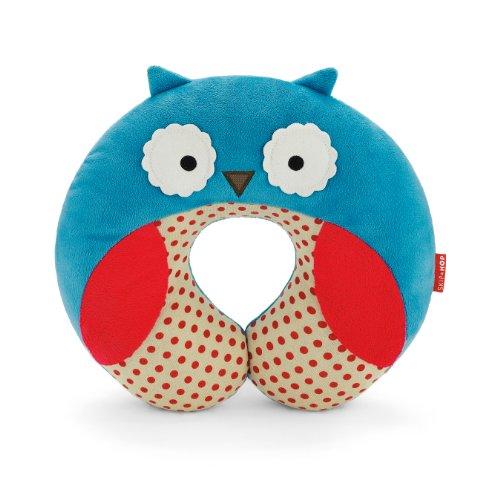 Skip Hop Zoo Little Kid and Toddler Travel Neck Rest, Soft Plush Velour, Multi Otis Owl