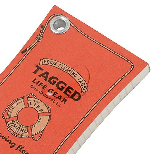 ハイモジモジメモ帳タグドライフギアフロートSサイズ方眼TALG-1206