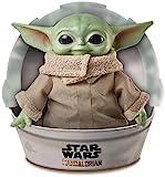 Star Wars Baby Yoda El nio de la serie The Mandalorian, figura peluche de 28 cm, color verde, (Mattel GWD85)