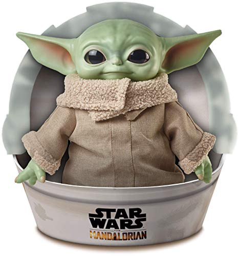 Mattel GWD85 Disney Star Wars Mandalorian The Child Baby Yoda Plüschfigur (28 cm)