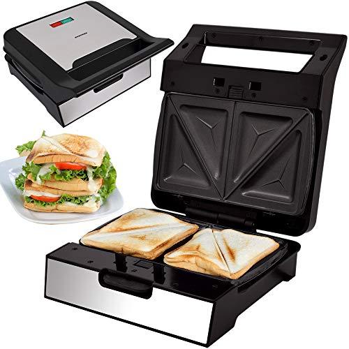 Syntrox Germany Sandwichmaker MM-1400W mit herausnehmbaren Backplatten